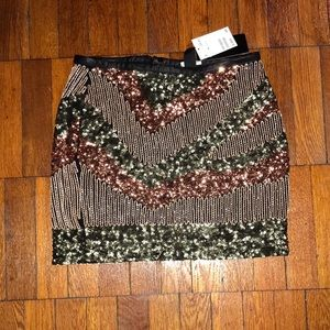 H&M Sequin Mini Skirt